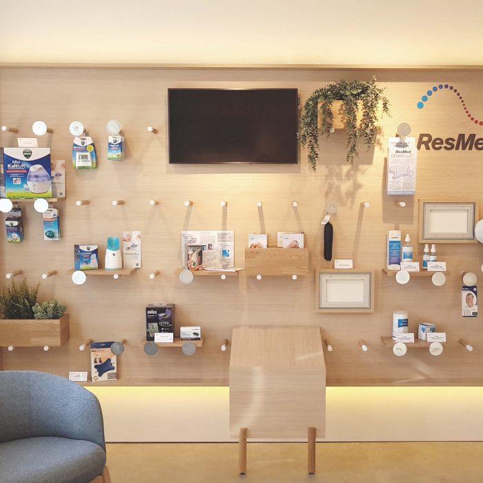 Innenarchitektur Federleicht Projekt Shop Konzept Ladenbau ResMed GmbH und Co. KG