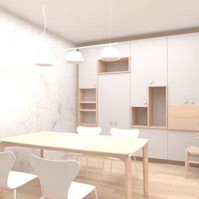 Entwurf Projekt Private Wohnung Renovierung Innenarchitektur Federleicht