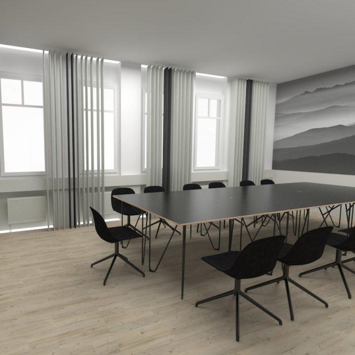 Innenarchitekur Federleicht Projekt Entwurf Bürokonzept Comvahro GmbH