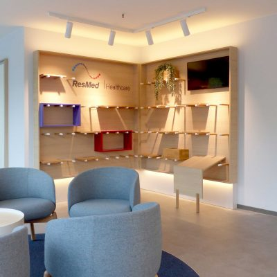 Innenarchitektur Federleicht Projekt Shop Konzept Ladenbau ResMed GmbH und Co. KGederleicht