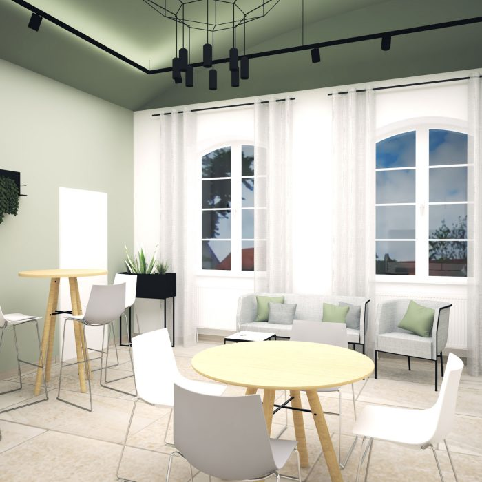 Innenarchitektur Federleicht Entwurf Mitarbeiterkantine Neuburg an der Donau
