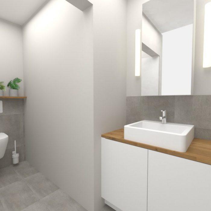 Entwurf Projekt Badezimmer Innenarchitektur Federleicht