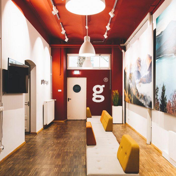 Innenarchitektur Federleicht Projekt Bürokonzept Getty Images Deutschland GmbH Raumwelten Heiss München Eingang