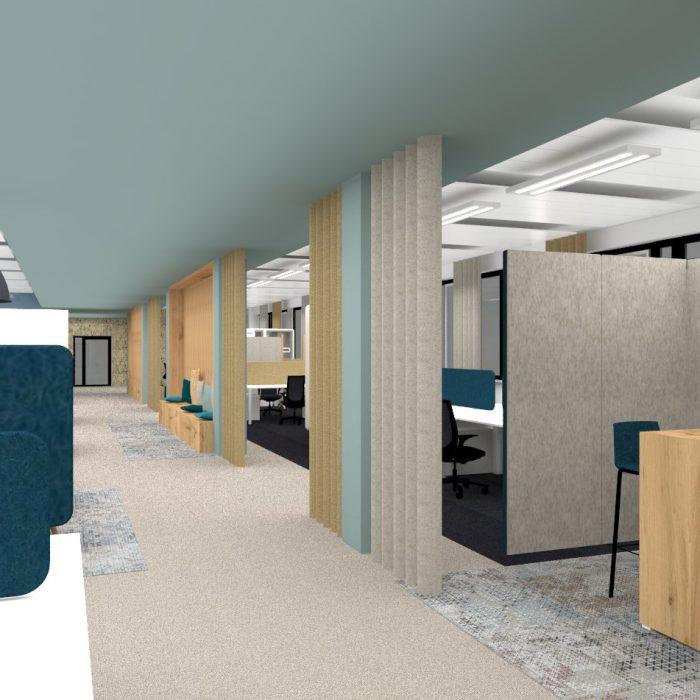 Innenarchitektur Federleicht Entwurf Bürokonzept München